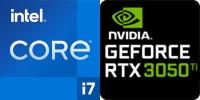 Intel® Core™ i7-11800H 8-Core processeur (16 Threads) 2.3GHz (4.6 GHz Turbo) 24Mo Smart Cache  Nvidia GeForce RTX-3050 Ti 4096Mo GDDR6 (NH55HKQ)